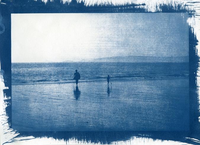 Amanda Salmon Cyanotype. Scan from original.